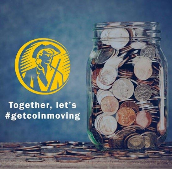 Together, let's #getcoinmoving